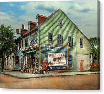 City- Va - C And G Grocery Store 1927 Canvas Print by Mike Savad