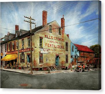 City - Va - Willis And Crismond, Dealers In Fertilizers 1928 Canvas Print