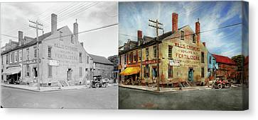 City - Va - Willis And Crismond, Dealers In Fertilizers 1928 - Side By Side Canvas Print by Mike Savad