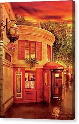 City - Vegas - Paris - Vins Detable Canvas Print by Mike Savad