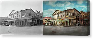 City - Victoria Tx - The Old Rupley Hotel 1931 - Side By Side Canvas Print