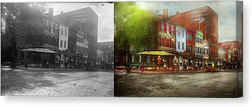 Canvas Print - City - Washington Dc - Life On 7th St 1912 - Side By Side by Mike Savad