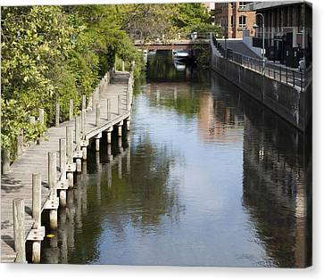 City Waterway Canvas Print