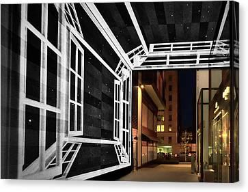 Canvas Print featuring the photograph Citycenter Gateway - Washington by Stuart Litoff