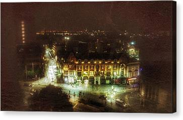 Canvas Print featuring the photograph Citylife by Isabella F Abbie Shores FRSA