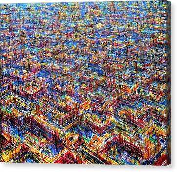 Citypattern Canvas Print by De Es Schwertberger