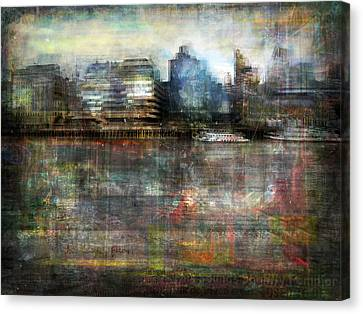 Canvas Print featuring the photograph Cityscape #33. Silent Windows by Alfredo Gonzalez