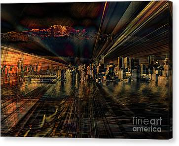Cityscape Canvas Print by Elaine Hunter
