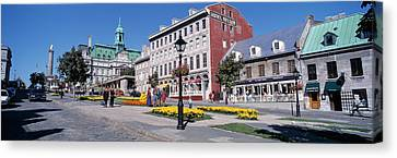 Montreal Streets Montreal Street Scenes Canvas Print - Cityscape Montreal Quebec Canada by Panoramic Images