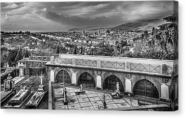 Cityscape Of Florence And Cemetery Canvas Print