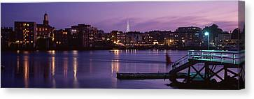 Cityscape Portsmouth Nh Usa Canvas Print