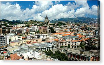 Cityscape Town Of Messina Sicily Italy Canvas Print by M Morina A Gurmankin