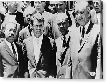 Civil Rights Leaders L To R Martin Canvas Print by Everett
