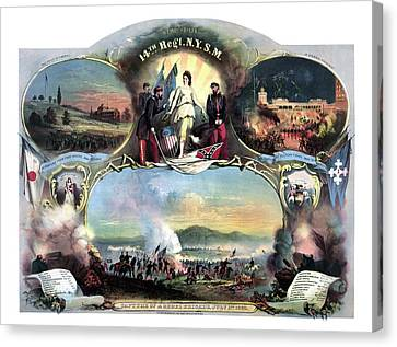 Civil War 14th Regiment Memorial Canvas Print by War Is Hell Store