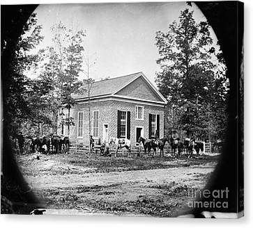 Civil War: Bethel Church Canvas Print by Granger
