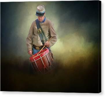 Civil War Drummer Boy Canvas Print