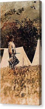 Civil War Drummer Boy Canvas Print by Marcia Lee Jones