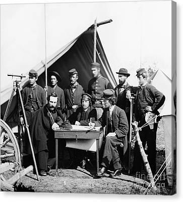 Civil War: Engineers, 1862 Canvas Print by Granger