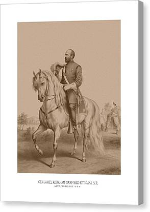 Civil War General James Garfield Canvas Print by War Is Hell Store