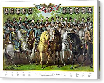 The General Lee Canvas Print - Civil War Generals And Statesman With Names by War Is Hell Store