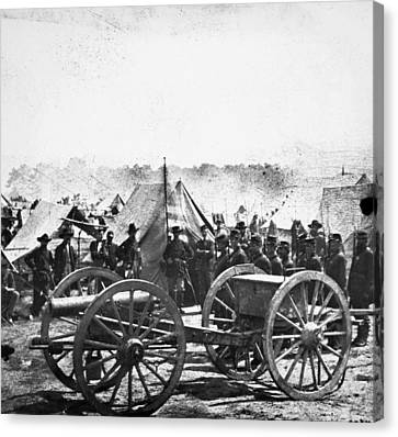 Civil War: Howitzer Gun Canvas Print by Granger