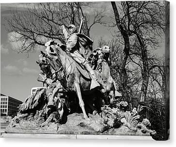 Bravery Canvas Print - Civil War Memorial by Brandon Bourdages