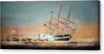 Civil War Merrimack 1862 Canvas Print by Granger