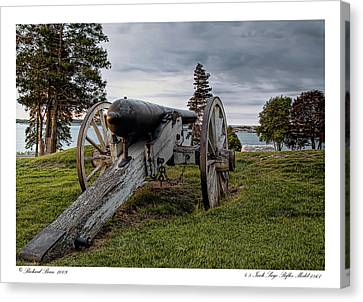 Canvas Print featuring the photograph Civil War Rifle by Richard Bean