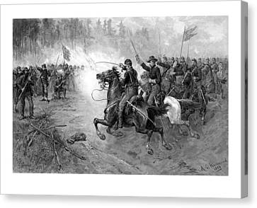 Civil War Union Cavalry Charge Canvas Print