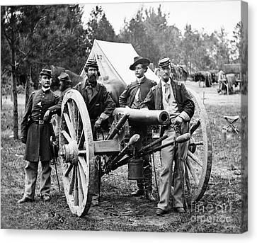 Civil War: Union Officers Canvas Print by Granger