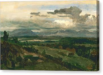 Civita Castellana Canvas Print by Jean-Baptiste-Camille Corot