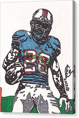 Cj Spiller 1 Canvas Print by Jeremiah Colley