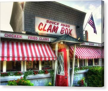Local Food Canvas Print - Clam Box Restaurant - Ipswich Ma by Joann Vitali
