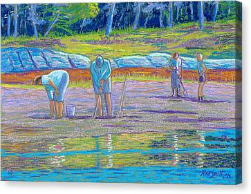 Clam Diggers Canvas Print by Rae  Smith  PSC