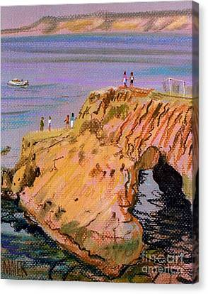 Clam Rock Evening Canvas Print by Donald Maier