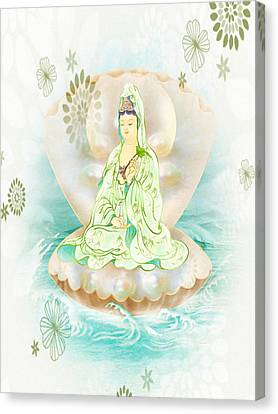 Clam-sitting Kuan Yin 1 Canvas Print