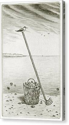 Clamming Canvas Print by Charles Harden