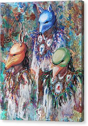 Clan Dancers Canvas Print by Li Newton