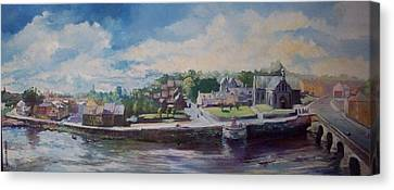 Clancy Strand-limerick-ireland Canvas Print by Paul Weerasekera