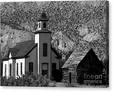 Clapboard Church 1898 Canvas Print by David Lee Thompson