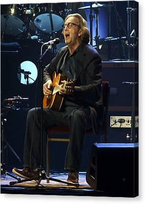 Eric Clapton Canvas Print - Clapton Acoustic by Steven Sachs