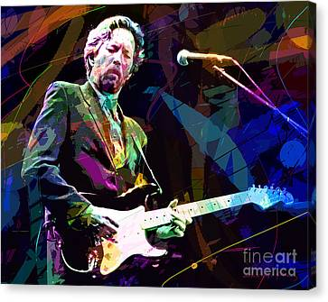 Eric Clapton Canvas Print - Clapton Live by David Lloyd Glover