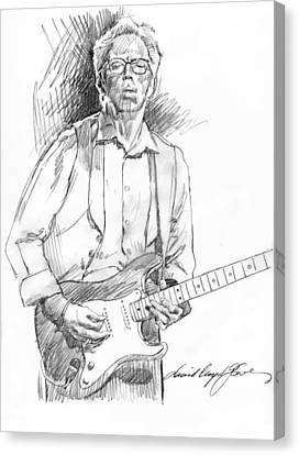 Fender Strat Canvas Print - Clapton Riff by David Lloyd Glover