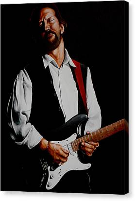 Clapton With Red Strap Canvas Print by Richard Klingbeil