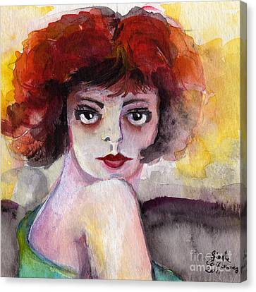Clara Bow Vintage Movie Stars The It Girl Flappers Canvas Print by Ginette Callaway