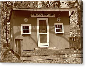 Blythewood Canvas Print - Clara's Sandwich Shop by Skip Willits