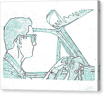 Clarence Driving Blue Canvas Print by Sheri Buchheit