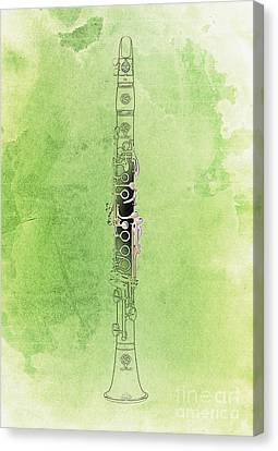 Clarinet 21 Jazz G Canvas Print by Pablo Franchi