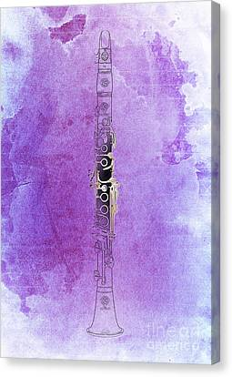 Clarinet 21 Jazz P Canvas Print by Pablo Franchi