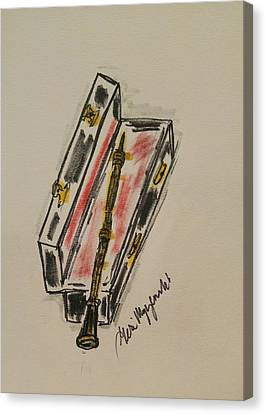 Clarinet  Canvas Print by Geraldine Myszenski